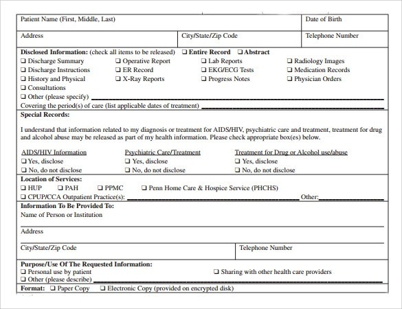 11+ Medical Records Release Forms – Samples, Examples ...
