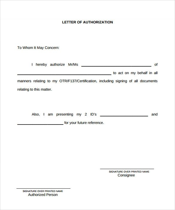 Third Party Payment Authorization Letter Sample