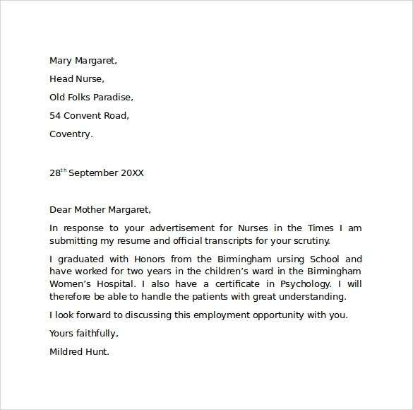 Free 8 Employment Cover Letter Templates In Pdf Ms Word
