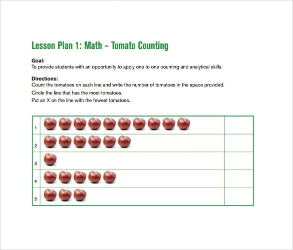 Sample Toddler Lesson Plan Template Free Samples Examples Format