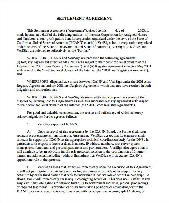 mediation settlement agreement template | Mytemplate.co