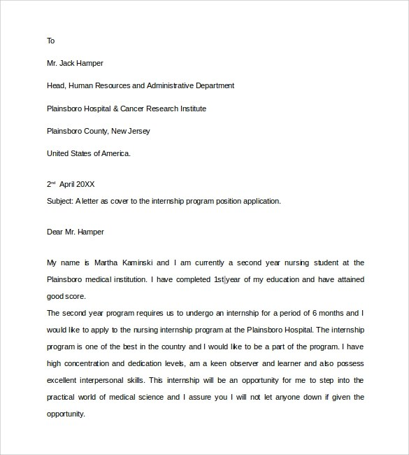 Free 9 Sample Nurse Cover Letter Templates In Pdf Ms Word