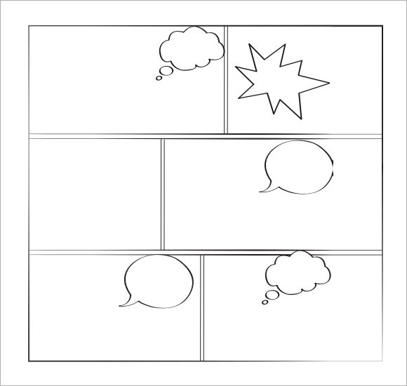 Sample Comic Template 10 Documents In PDF PSD