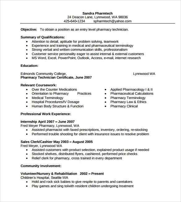 pharmacy sample resume pharmacist resume sample writing tips