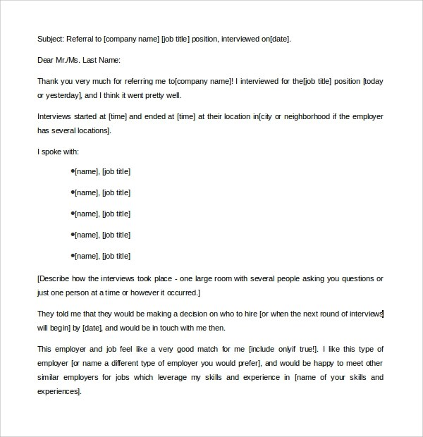 Sample Thank You Letter Template 16 Free Documents Download In PDF Word