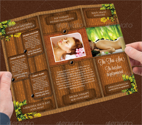 27 Spa Brochures Templates Ai Psd Docs Pages