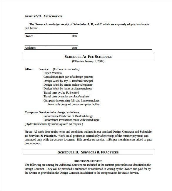 Interior design contract sample pdf for Interior decorator contract