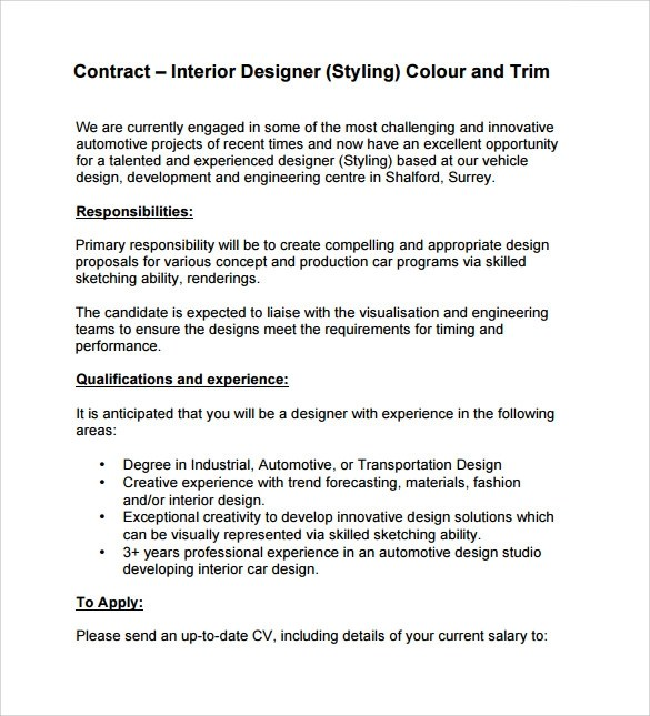 Interior design contract sample pdf - Interior design contract template ...