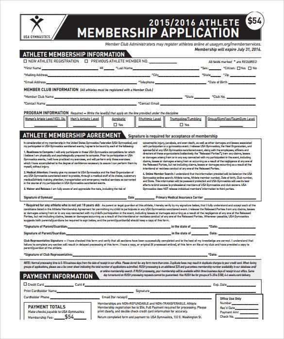 sample gym membership agreement
