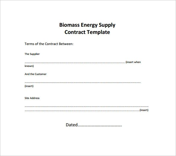 Supply Contract Template 12 Download Free Documents In PDF Word