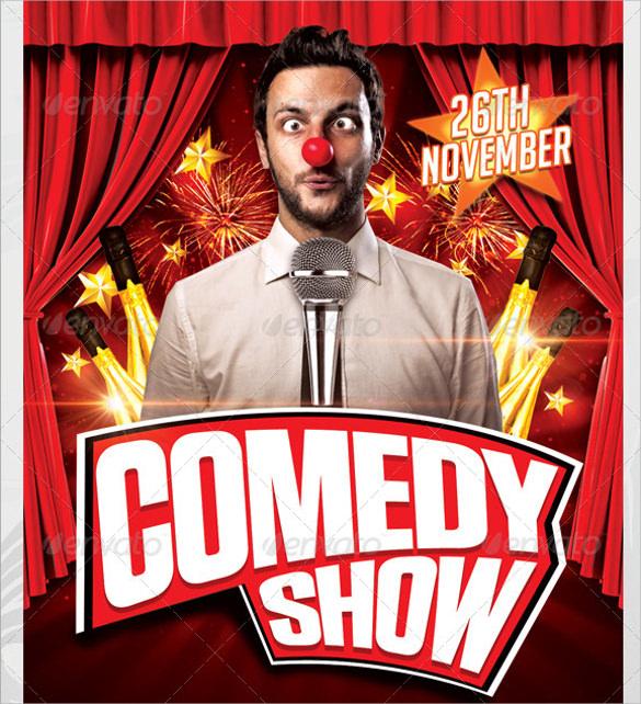 11 Comedy Show Flyer Templates Sample Templates