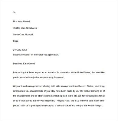Sample invitation letter for visitor visa for brother download sample invitation letter for visitor visa for brother stopboris Images