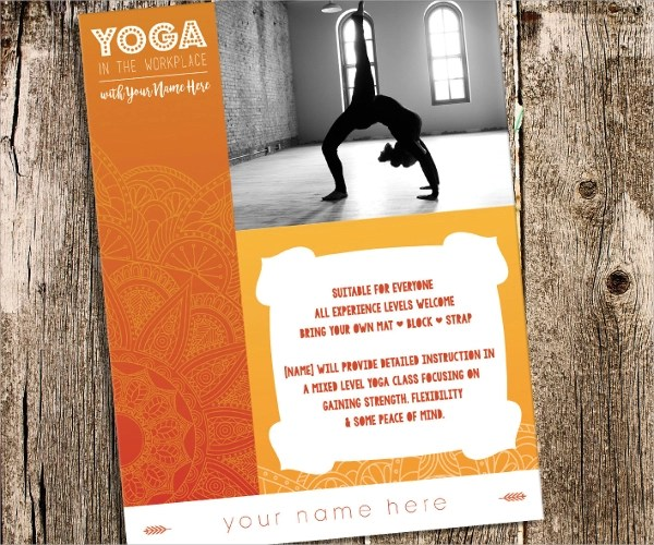 30 Yoga Flyer Templates Vector EPS PSD Word Formats