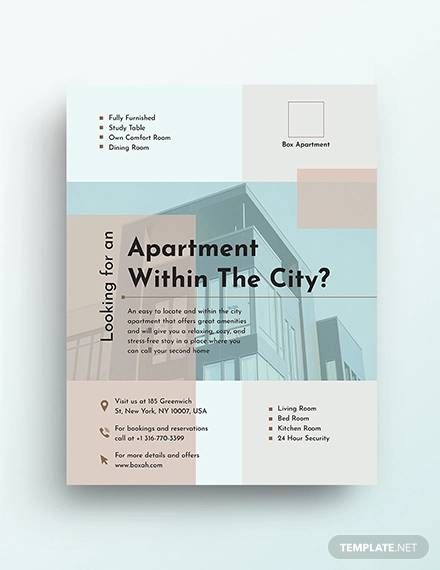Apartment Flyer Templates In Ms Word