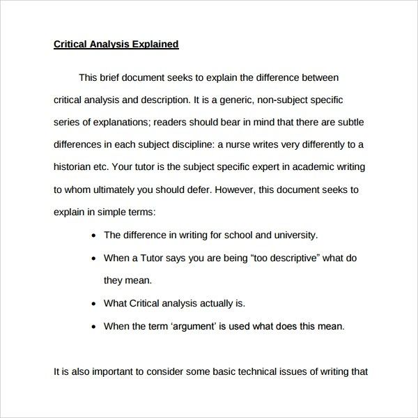 Critical Thinking Essay Examples. Essay Critical Thinking Essay