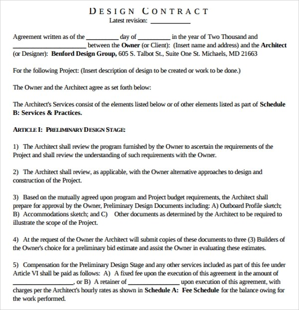 Architectural Fee Proposal Letter