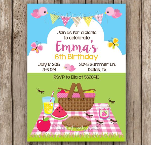 picnic invitation templates in ms word