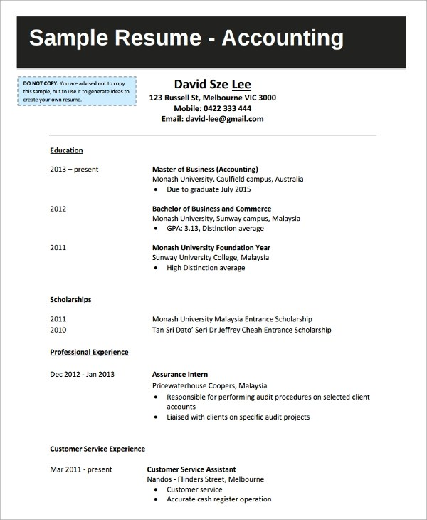 Resume For It Graduate  Resume Sample