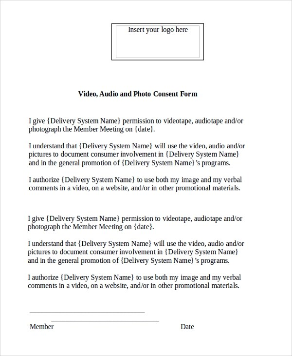 10 Video Consent Forms Sample Templates
