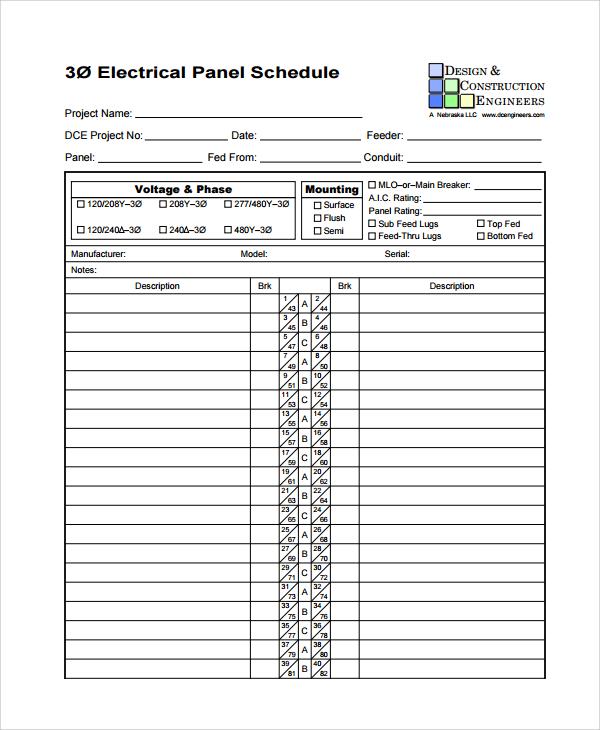 · electrical panel schedule pdf kesal. Free 7 Sample Panel Schedule Templates In Pdf