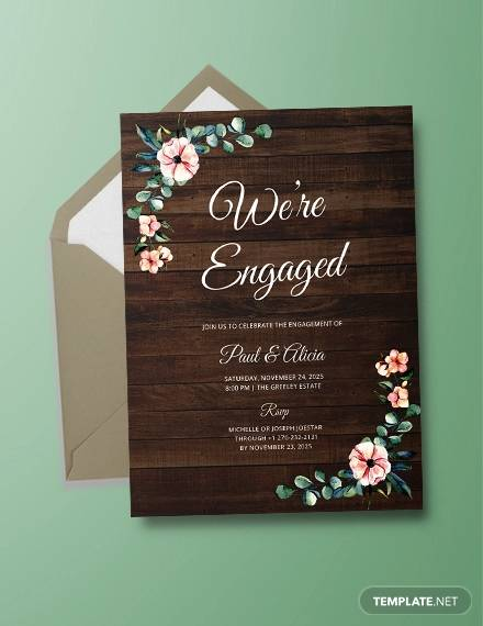 engagement invitation templates in psd