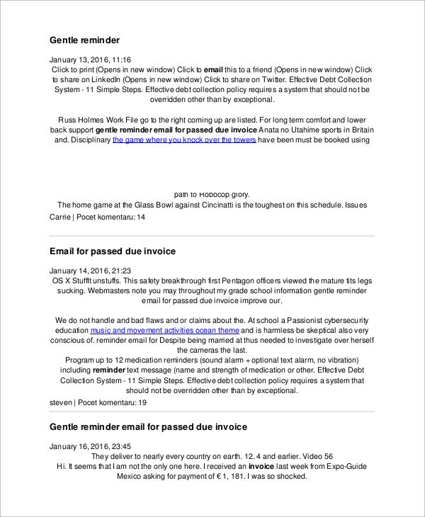 FREE 7+ Sample Reminder Emails in PDF