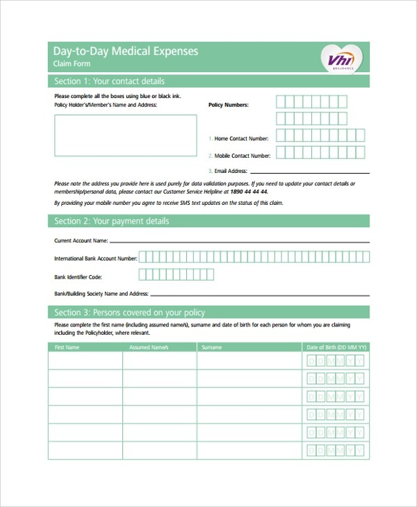 Sample Expense Form 7 Documents In PDF Word