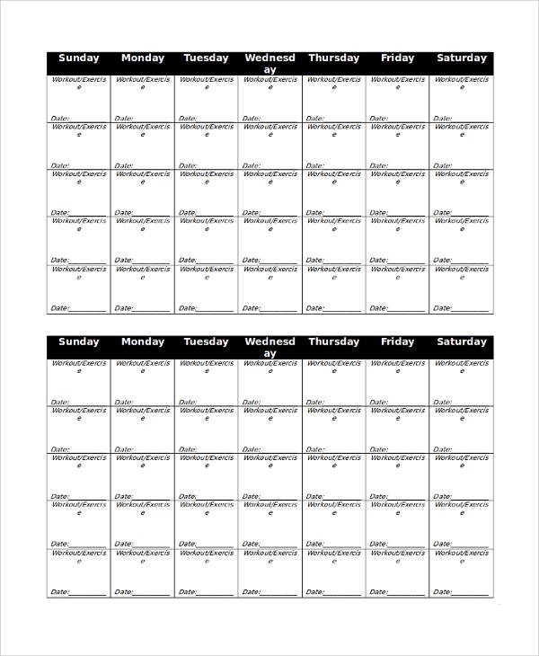 We may earn a commission through links on our site. Free 10 Sample Workout Calendar Templates In Pdf Ms Word Excel Google Docs Google Sheets Numbers Apple Pages