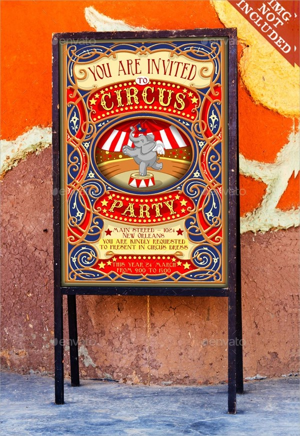circus party invitation templates