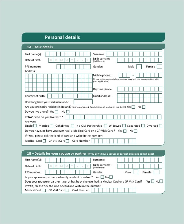 Medical Card Application Form  InfocardCo
