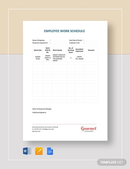Includes monthly schedule with weekly. Free 12 Sample Employee Schedules In Ms Word Pdf