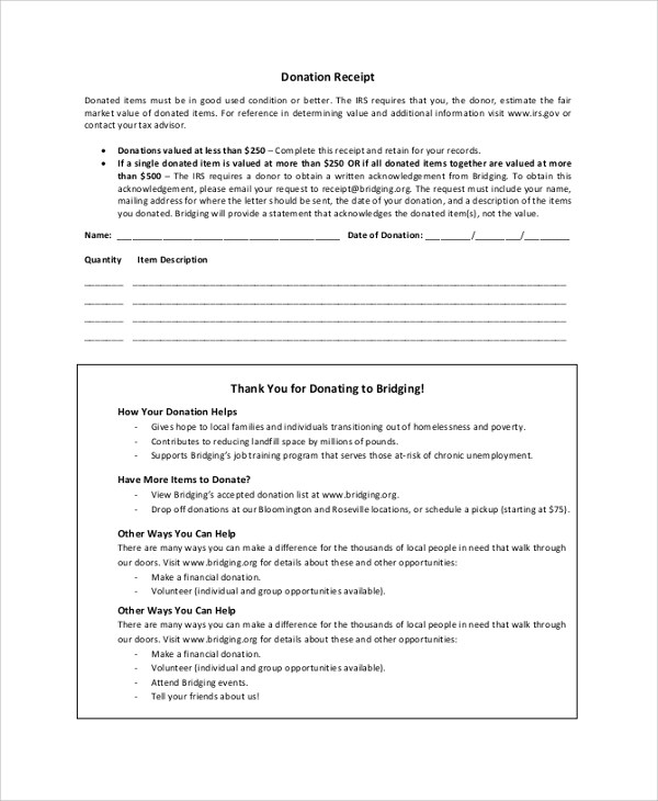 Donation Receipt Letter Tax Receipt Template Vehicle Donation – Donation Receipt Letter