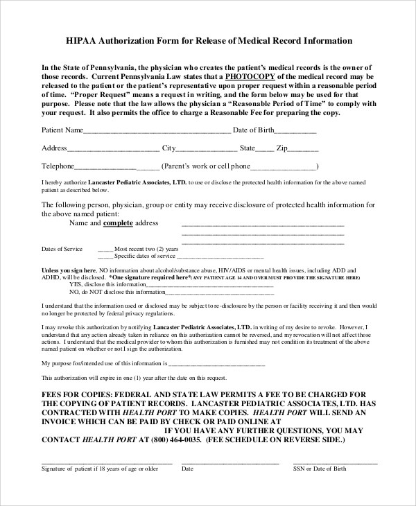 Hipaa Privacy Consent Form