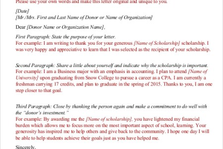 Best free fillable forms format of thank you letter for format of thank you letter for scholarship find and download free form templates and tested template designs download for free for commercial or non expocarfo Images