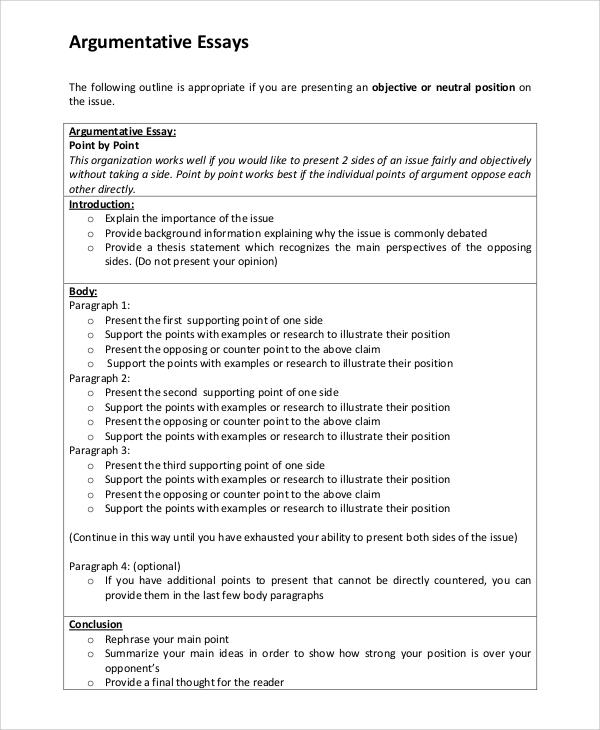 Intro to argumentative essay