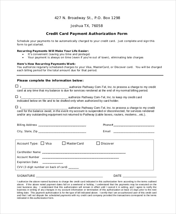 Credit Card Authorization Code Format | Infocard.Co