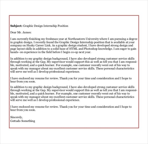Free 7 Sample Graphic Design Cover Letter Templates In Ms Word Pdf