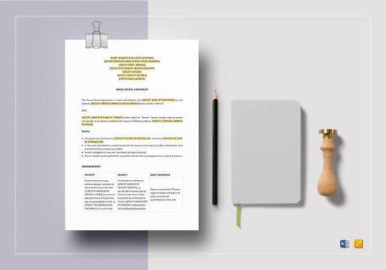 18  Sample House Rental Agreements   Sample Templates Printable House Rental Agreement Template