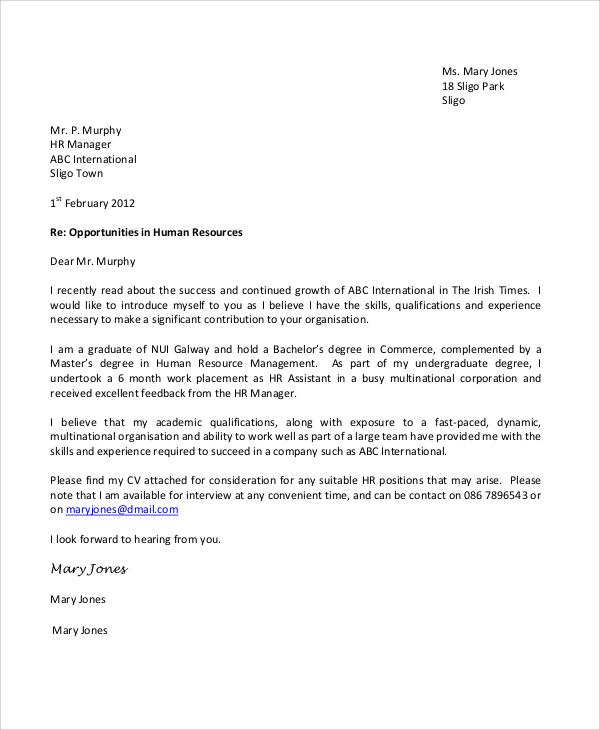 Cover Letter For General Job Sample Cover Letter