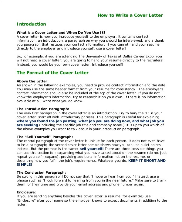 How to write a cover letter introducing yourself how to for Template for introducing yourself