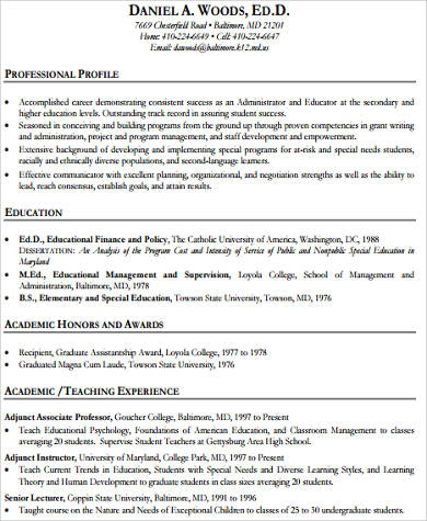 teacher resume examples 8 samples in word pdf experienced teacher resume examples - Resume Samples Education