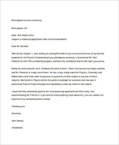 sample recommendation letter for student letter of recommendation for student free aashe 1598