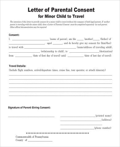 travelling with child consent letter | Docoments Ojazlink