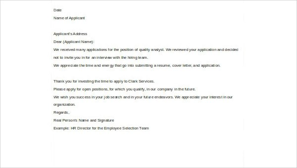 Investor Rejection Letter Samples | Rejection Letter Examples Textpoems Org