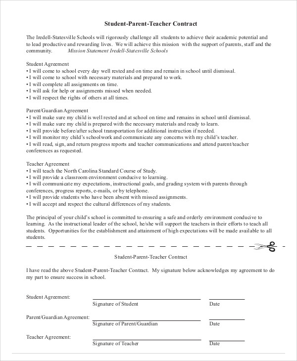 Contract Agreement Employment Template Pdf