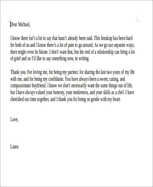 5 Sample Boyfriend Thank You Letter Free Example