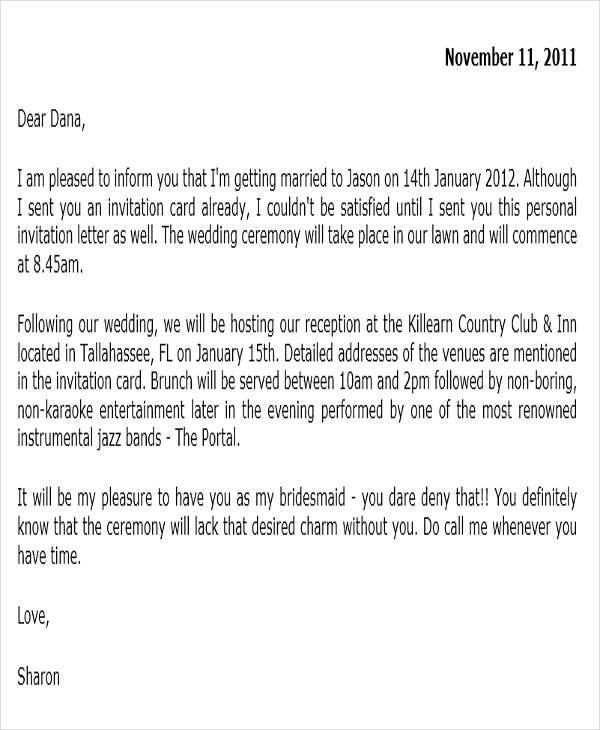 invitation letter on wedding ceremony Chatterzoom – Invitation Letter for Wedding Ceremony