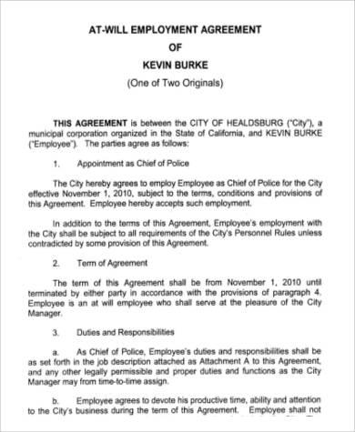 54 Employment Agreement Samples Word PDF