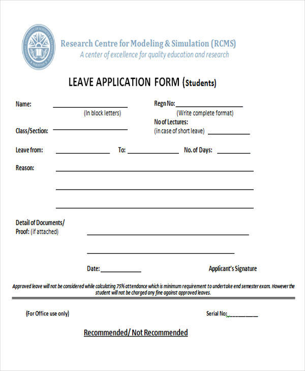 43 Sample Application Form Templates In DOC