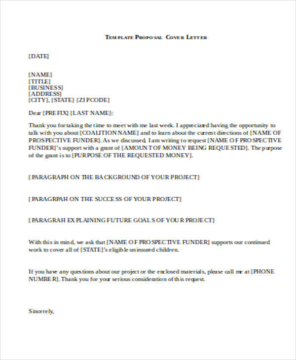 32 Business Proposal Letter In Word